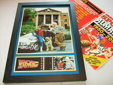 BACK TO THE FUTURE    FILM CELL FRAMED+FREE ALMANAC 11