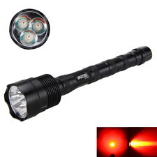 3800LM 3x Q5 LED Rot Licht Taschenlampen Flashlight Flash-Lamp Light Jagd Fackel