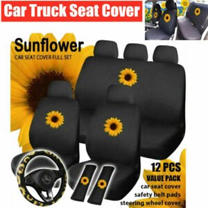 Universal Car SUV Truck Seat Cover Cotton Cushion Protector Steering Wheel Cover