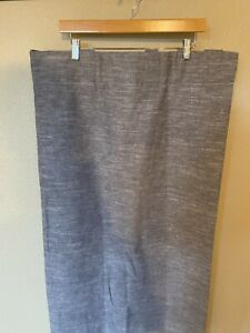 "Pottery Barn Kids Basketweave Slub Ash Blackout Curtain Drape Gray 44""x63"" NWOT"