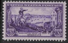 Scott 1003- MNH- Battle of Brooklyn, Washington Evacuating- 3c 1951- unused mint