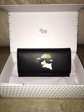 Radley Black Cream Chocks Away Large Leather Mattinee Purse Wallet Box RRP £75