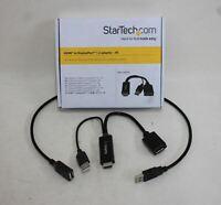 STARTECH HDMI To DisplayPort 1.2 4K Monitor Adaptor w USB Cable HD2DP BNIB