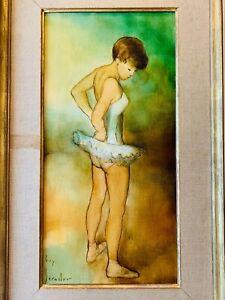 """SUBLIME HUILE SUR TOILE """" La Danseuse """" signée Guy SÉRADOUR (1922-2007)"""