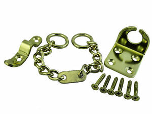 NEW 40 X Door Chain Security Lock Wing + Screws Brass Plated