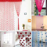 Modern Heart Line String Tassel Drape Curtain For Vestibule Wall Door Window