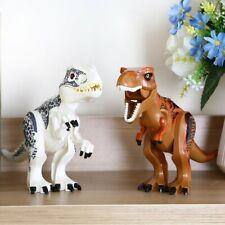 2pcs Dinosaur Rex Tyrannosaurus Jurassic World Park Figure Blocks Fit Lego Toys