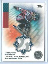 2014 TOPPS OLYMPIC JAMIE ANDERSON SILVER RELIC CARD ~ 01/50  UNIQUE SNOWBOARDING