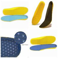 Mesh Fabric + Silicone Gel Sports Insoles Soft Breathable Shoes Pads Inserts aa