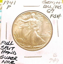 1941-P WALKING LIBERTY HALF DOLLAR GEM++ BU/MS FSH, NICE+ WHITE, SHARP B749