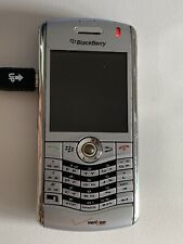 BlackBerry Pearl 8130 Silver Verizon Smartphone Holster Cell Phone As Is No Bat