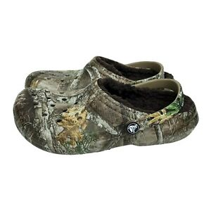 Crocs Unisex Kids -Youth Classic Realtree Edge Lined Clog Comfy Shoes size J5 J6