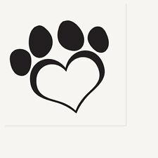 Puppy Dog Paw Prints Supplies HEART LOVE WHITE LUNCHEON DINNER NAPKINS