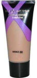 MAXFACTOR X SMOOTH EFFECT FOUNDATION - 80 BRONZE 30ML TUBE & FREE COMPACT MIRROR