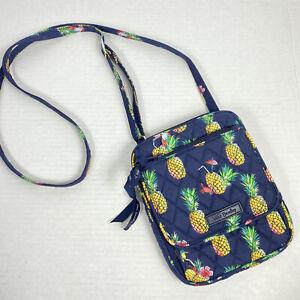 Vera Bradley Crossbody Bag Toucan Party Pineapples Navy Purse