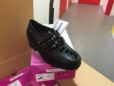 Ladies Black Leather Shoes Size 4