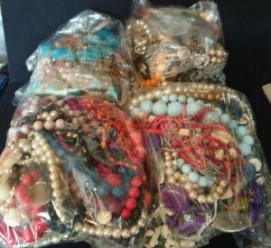 1kg job lot Costume vintage/retro Jewellery mixed bundles wear, resell, craft