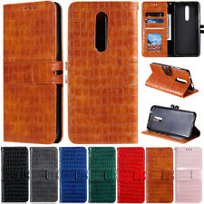 Crocodile Wallet Leather Flip Case Cover For LG Q60 Q70 K40 K50 Stylo 4 Stylo 5