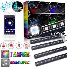 APP RGB Glow Colorful LED Interior Under Dash Seat Footwell Lighting Kit 36 LED