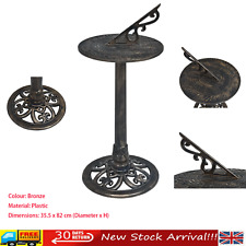 Solid Plastic Brass Sundial – Antique Ornamental Circular Sunny Hours Sun Dial