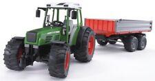 BRU2104 - Tractor Fendt 209 S Con Remolque 2 Ejes Juguete Bruder