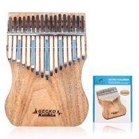 Gecko 17 Key Kalimba Thumb Piano Finger Percussion Music Camphor Wood Music D3W1