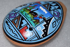 Colorful Handmade Hand Painted Musical Instrument Clay Flute from PERU 5 of 7