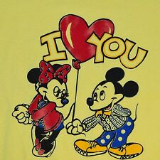 Vintage Mickey Mouse T-Shirt Vtg 70s I Heart You Minnie 50/50 TShirt Men's M