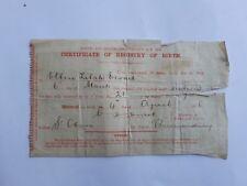 6 March 1916 British Birth Certificate. ELLEN LILAH EWART. Bermondsey, SE London