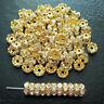 100Pcs Czech Crystal Rhinestone Wavy Rondelle Spacer Beads 4mm 5mm 6mm 8mm