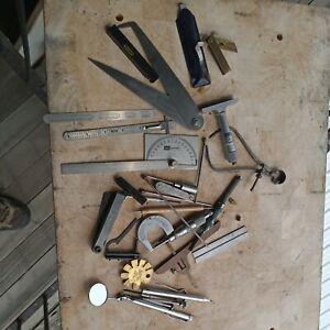 Starrett Craftsman Micrometers Depth Gauges Kennametal Brass Misc Tool Set Lot