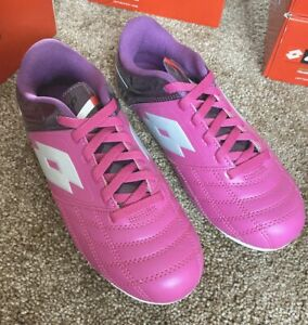 Lotto Forzii Pink Purple Soccer Cleats Sz 6 NEW
