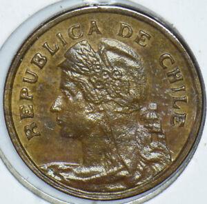Chile 1919 Centavo 490014 combine