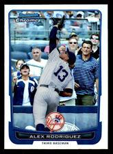 2012 Bowman Chrome Refractor #66 Alex Rodriguez Yankees (ref 15981)