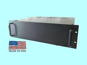 3U DIY Audio Instrument Amplifier Rackmount Chassis Case Box black 10-19085B