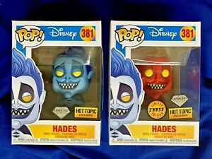 Funko Pop! Hercules HADES CHASE Diamond Collection Bundle 2 Hot Topic EXCLUSIVES