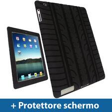 Nero Pneumatico Custodia per Apple iPad 2, 3 & NUOVO iPad 4 Retina Skin Case