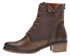 NEW PIKOLINOS Womens Zaragoza MOSS Leather Lace-Up/Side Zip Boot EUR 39/US 8.5-9