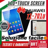 DISPLAY LCD+TOUCH SCREEN HUAWEI T1-701 T1-701U SCHERMO MONITOR VETRO NERO BIANCO