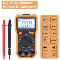 Digital LCD Multimeter Ammeter AC DC Voltage Ohmmeter Tester Meter Auto Range