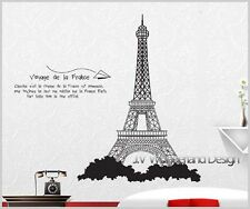 Large EIFFEL TOWER PARIS FRENCH WALL ART STICKERS Removable Wall Decor Vinyl