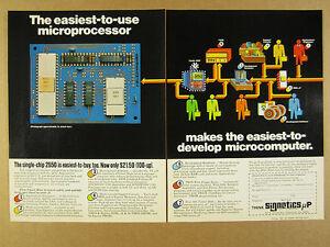 1976 Signetics 2650 Microprocessor single-chip vintage print Ad