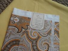 2 TISSU ANCIEN COUPON satiné percale CACHEMIRE & coton jaune  namoyna beige ocre