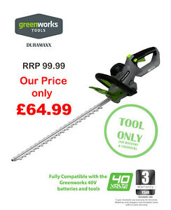 NEW Greenworks Duramaxx Hedge Trimmer Tool Only Great Price