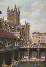 The Great Roman Bath, Bath England, Great Britain -- United Kingdom Art Postcard