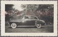 Vintage Car Photo 1949 Dodge Automobile & Patriotic American Flag 754878