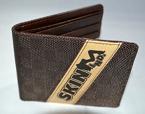 Skin Industries men wallet name Ballistics Brown
