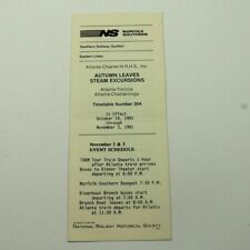 Norfolk Southern Railroad 1991 Timetable NS Eastern Lines RR TT Public