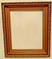 Antique Ornate Gold Gild Gesso Deep Woood Frame 21.2x25.2 and 16x20 Inches