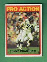 1972 TOPPS FOOTBALL #120 TERRY BRADSHAW IN ACTION PITTSBURGH STEELERS HOF EX+